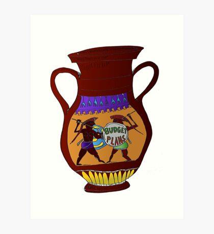 Binary options cartoon news - Ancient Greek Vase saves Euro Art Print