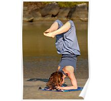 Yoga on Palolem Beach Poster