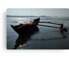 Fishing Boat Loaded with Nets Palolem Canvas Print