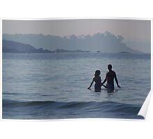 Couple in the Sea Palolem Poster