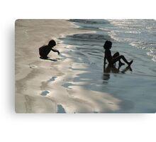 Children by the Sea Palolem Canvas Print