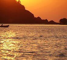 Boat at Sunset Palolem by SerenaB