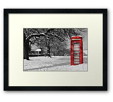 Phone Box on The Village Green Framed Print