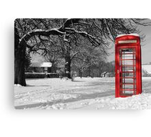 Phone Box on The Village Green Canvas Print
