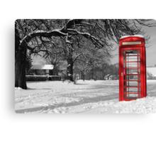 Phone Box on The Village Green Canvas Print