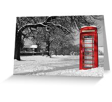 Phone Box on The Village Green Greeting Card