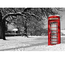 Phone Box on The Village Green Photographic Print