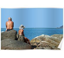 Sitting on Rocks Palolem Poster