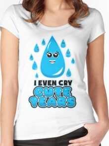 I Even Cry Cute Tears Women's Fitted Scoop T-Shirt