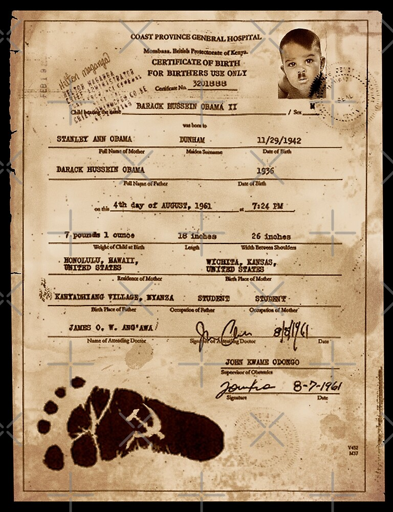 President Barack Hussein Obama's Certificate Of Birth - Birther Edition by Alex Preiss