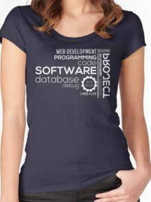 Programmer : Typography Programming Women's Fitted Scoop T-Shirt
