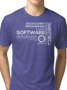 Programmer : Typography Programming Tri-blend T-Shirt