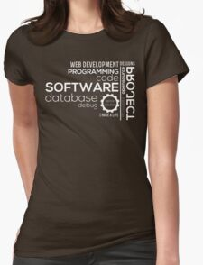 Programmer : Typography Programming Womens Fitted T-Shirt