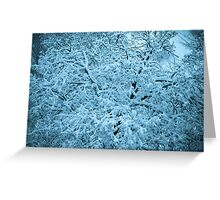 The snow Greeting Card