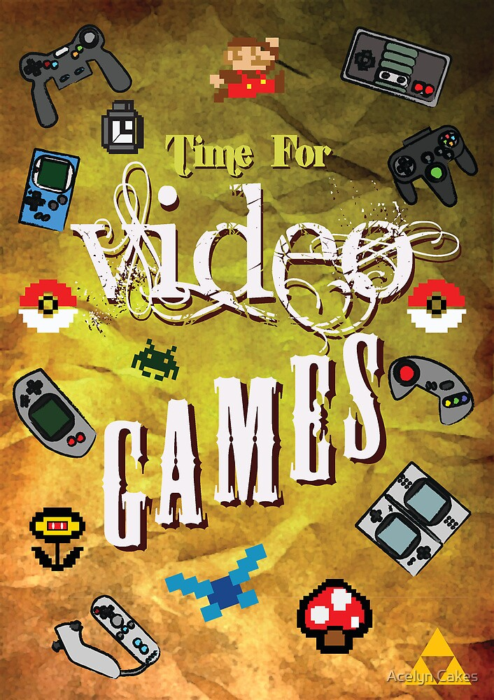 Time for video games  by Acelyn Cakes