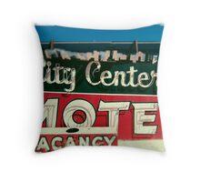City Center Neon Throw Pillow