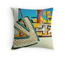 Neon Big Arrow Throw Pillow