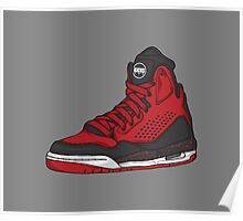 Shoes Flight Red (Kicks) Poster