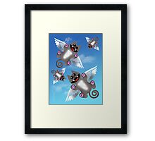 ANGEL FELINE Framed Print