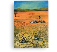 Famine Stalks The Earth Elsewhere Canvas Print