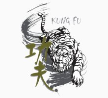 Kung Fu tiger illustration for martial art masters by derickyeoh