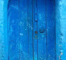 blue door in Chefchaouen,Morocco by milena boeva