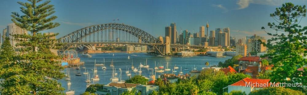 Sunny Sydney Harbour pano 1 by Michael Matthews