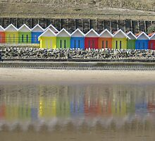 Colourful Reflections - Scarborough, North Yorkshire by Sue Gurney