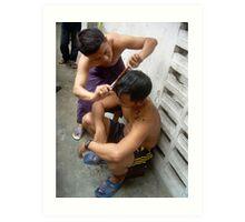 The haircut - Ma Liani Art Print
