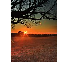 Saturday Sunflare Photographic Print