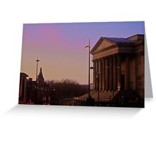 St. Georges Hall Sunset Greeting Card
