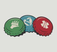 Zombies Perk Bottle Caps by ZincSpoon