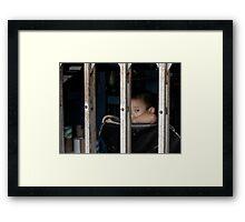 Boy in Cage - Peter Jackson Framed Print