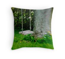 Swing on the tree Throw Pillow