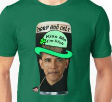 Obama Leprechaun - Kiss Me, I'm Irish Unisex T-Shirt