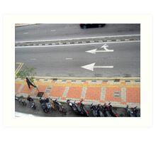 Man Walking over Pavement - Sui Sui Art Print