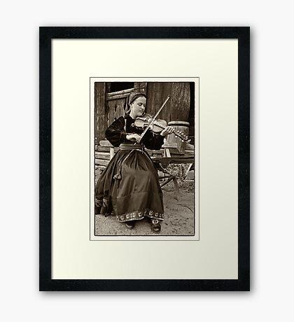Hardanger fiddle player Framed Print