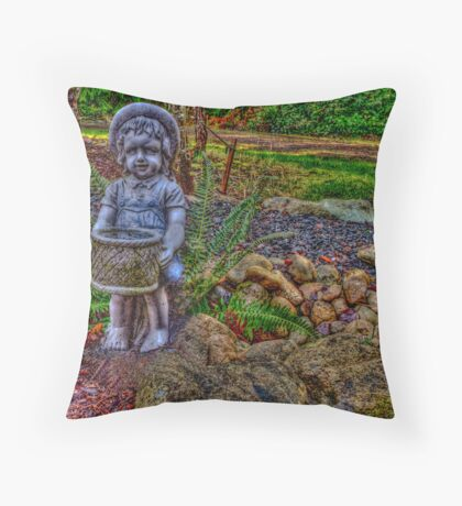 Helpful Gnome Throw Pillow