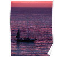 Purple Ocean - Oceano Violeta Poster