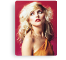 Debbie Harry, Red Canvas Print