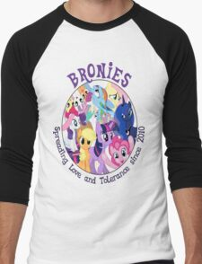 Bronies, classic logo Men's Baseball ¾ T-Shirt