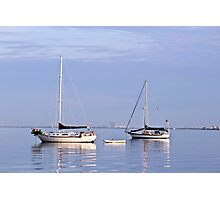 "Dingy "" Anchored boats serious."" Photographic Print"