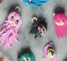 Polymer Clay Anime Faces by Neo-Jubatus