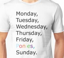 Saturday Ponies Unisex T-Shirt