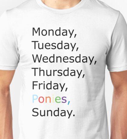 Saturday Ponies Unisex T-Shirt