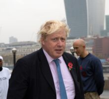 Boris Johnson takes part in a tug of war outside City Hall Sticker