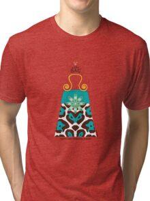The Katy Bag / Tantalizing Turquoise Leopard Tri-blend T-Shirt