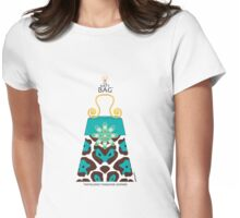 The Katy Bag / Tantalizing Turquoise Leopard Womens Fitted T-Shirt