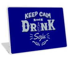 Keep Calm and Drink Soju Laptop Skin
