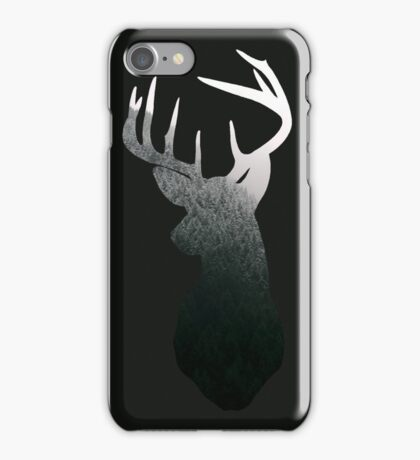 Pine Forest Deer Silhouette iPhone Case/Skin